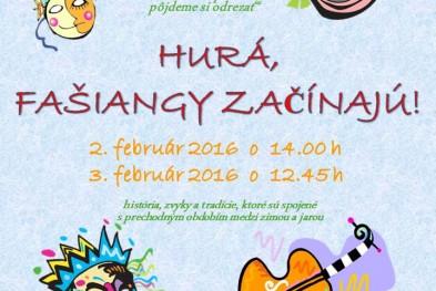 Fasiangy 2016 pozvanka