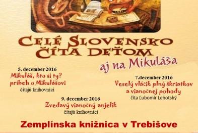 Celé slovensko číta deťom 2016 aj na Mikuláša