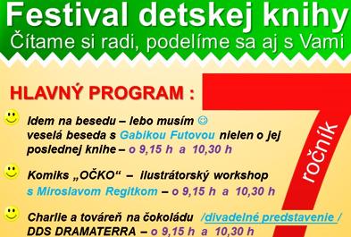 Festival detskej knihy pozvanka