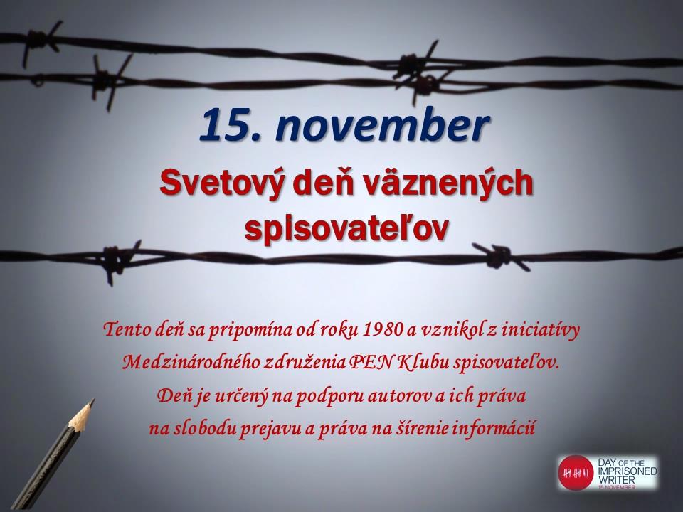 Deň väznených spisovateľov