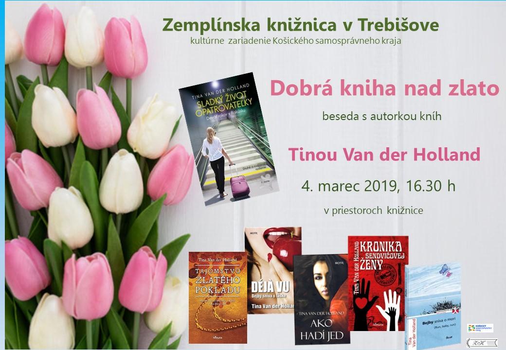 pozvánka Dobrá kniha nad zlato  Tina van der Holland