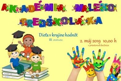 pozvánka Akadémia predškoláka náš web