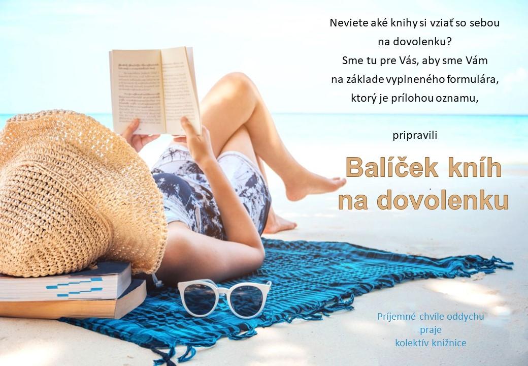 Balíček kníh na dovolenku nas web
