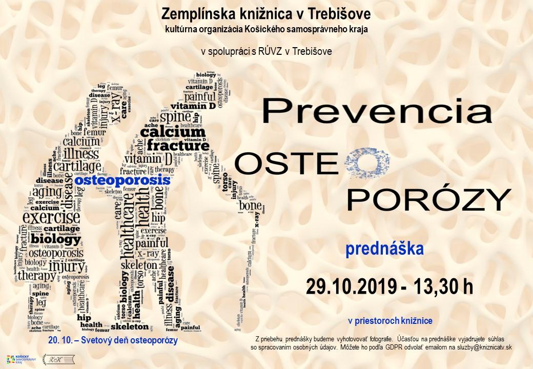 pozvánka na osteoporozu
