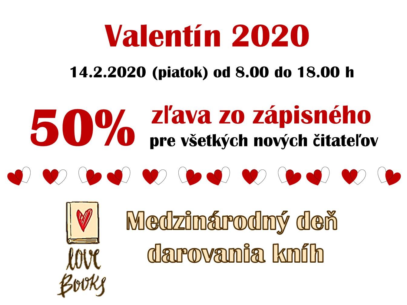 Valentín oznam 2020 členské