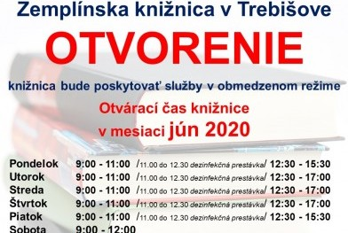OZNAM o tvorení knižnice _nový od 2.6.2020