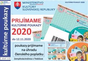 (Slovensky) Kultúrne poukazy 2020 oznam na web